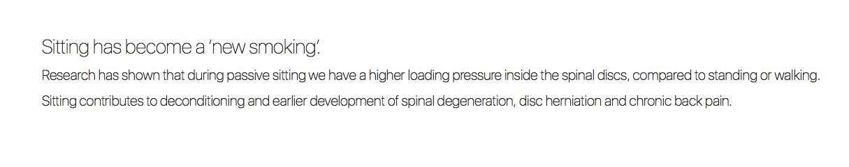 Sitting has become a 'new smoking'. 